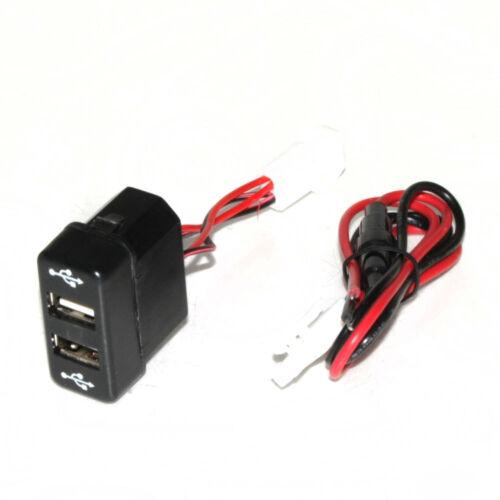 12V 24V Dash Dashboard Panel Dual USB Port 3A Outlet For Man TGA TGM TGL Truck