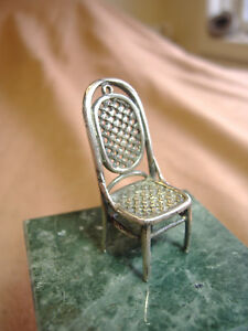 VINTAGE-STERLING-SILVER-WOVEN-BACK-AND-SEAT-CHAIR-DOLLHOUSE