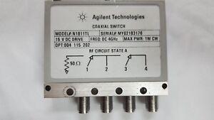 Agilent-N1811TL-conmutador-coaxial-4Ghz-004-115-202-Opt