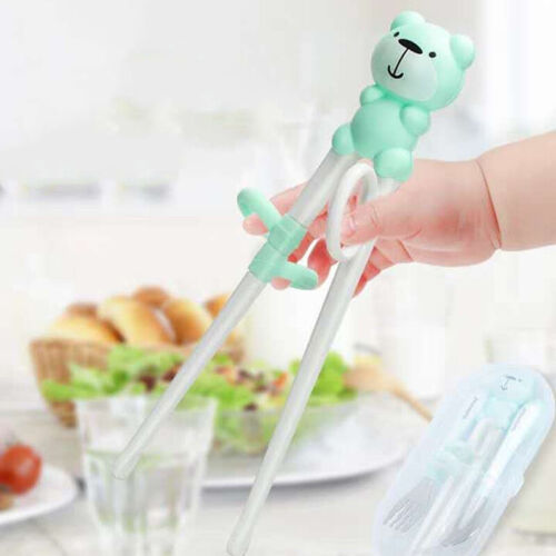 Baby Kids Chopstick Fork and Spoon Set Tableware Eating Training Cutlery Set LH