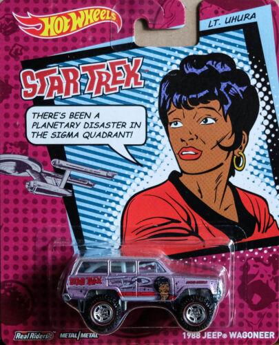 1988 Jeep Wagoneer Star Trek Teniente Uhura 1:64 Hot Wheels bdt15 x8308