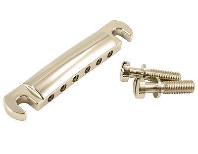 KLUSON Bell Brass Nickel STOP TAILPIECE W//US THREAD STUDS~Les Paul//SG KSTOPBR-N