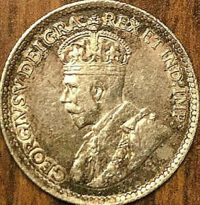 1919-CANADA-SILVER-5-CENTS-COIN-Excellent-example