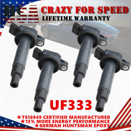 4 Pack Ignition Coils For 2001-2008 Toyota Camry RAV4 L4 2.0L 2.4L UF333 C1330