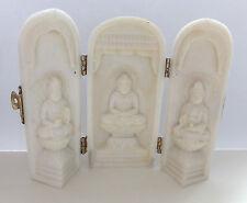 3 weiße Thai Buddha in einer Säule zum aufklappen