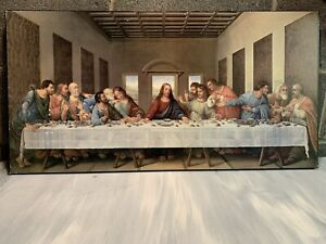 Last Supper P Graham Dunn Inspirational Print on Wood Wall Plaque Good Friday