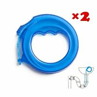 Hair Drain Clog Remover Drain Relief Tool For Drain Cleaning 17'' (2 Pair)