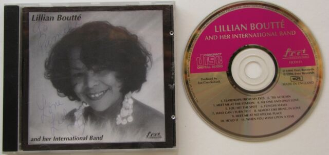 LILLIAN BOUTTE AND HER INTERNATIONAL BAND...1996 SIGNED MUSIC CD
