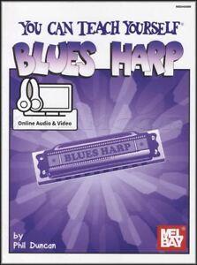Vous-pouvez-enseigner-vous-meme-Blues-Harp-Music-Book-with-Audio-amp-Video-apprendre-a-jouer