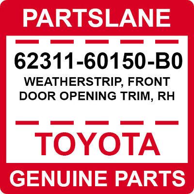 TOYOTA Genuine 62311-06130-A0 Door Opening Trim Weatherstrip