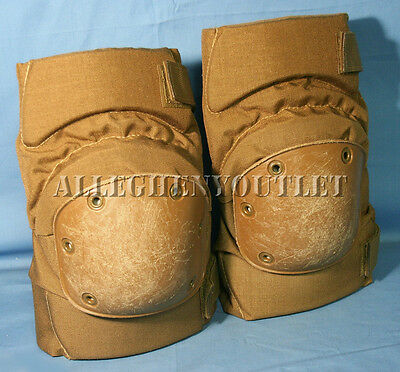 USGI Military USMC Alta Tactical Protective KNEE PADS Paintball COYOTE Large VG