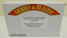 Armies in plastic 5724-guerra franco-indiana Set-BATTLEFIELD COMBO serie 1:32