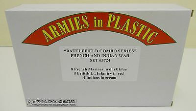 Armies In Plastic 5724 - French & Indian War Set - Battlefield Combo Series 1:32