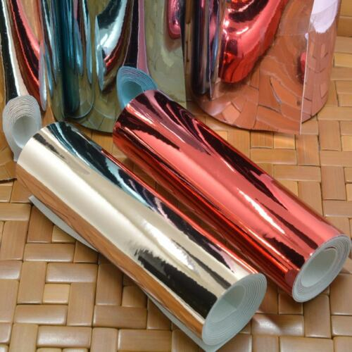 Mirrored Leatherette Fabric 15cm 30cm Width Bows Crafts High Quality Ribbon