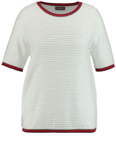 Samoon Legeres Shirt mit Struktur by Gerry Weber Neu TShirt gedecktes-weiß Gr.