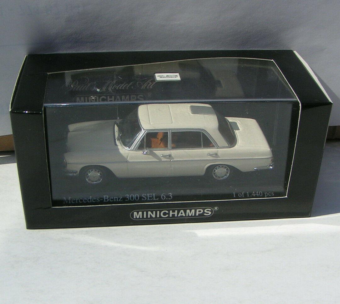 Mercedes-Benz Classe-S 300 SEL 6.3 - W 109 blanc-Minichamps 1 43