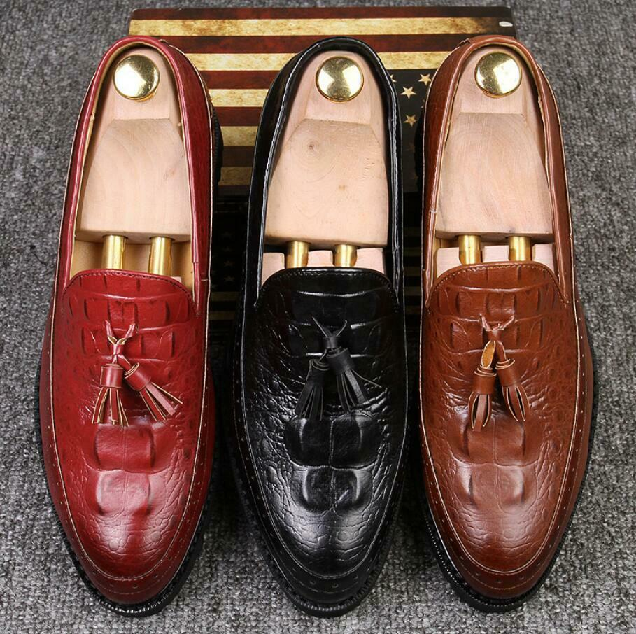 NEW Men Leather Casual Slip On Loafer shoes Moccasins Soft Driving shoes Party