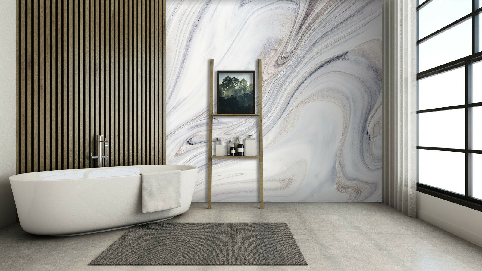 3D Abstract Painting 6 Texture Tiles Marble Wall Paper Decal Wallpaper Mural