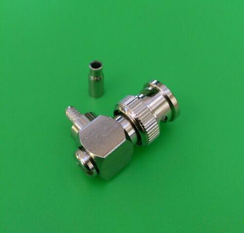 10 PKS USA Seller Right Angle BNC Male Crimp RG174 RG179 RG316 LMR100 Cable