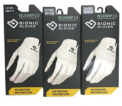 Black 2X-Large Bionic Mens Relax Grip Equestrian Gloves