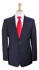 * HUGO BOSS * Recent Charcoal w/ Pink/Purple Pinstripe 2-Btn Wool Suit 38R