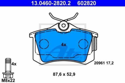 Bremsbeläge hinten für VW Polo 9N 6R SKODA Roomster 2 ATE Bremsscheiben Ø230mm