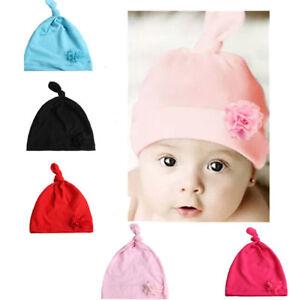 596b5cddf91 Cute Newborn Baby Girl Toddler Comfy Flower Hospital Cap Warm Beanie ...