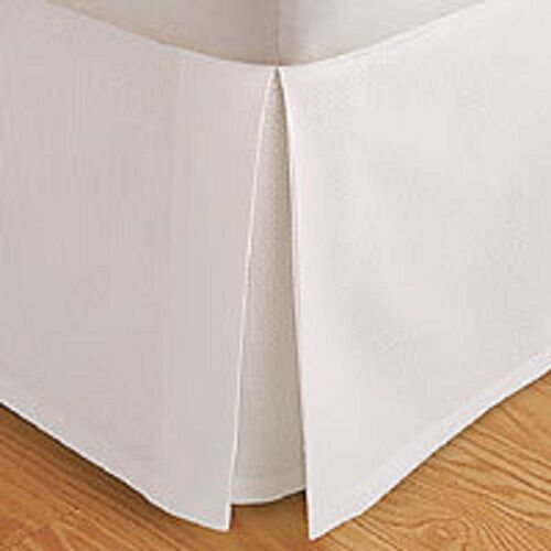 Solid Bed Skirt 100-Percent Microfiber Pleated Tailored Bedskirt with 14  Drop