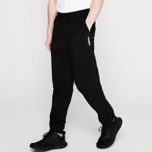adidas Regular Tracksuit Bottoms Mens Gents Jersey Jogging Trousers Pants Cotton