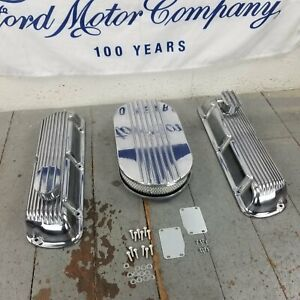 Ford SBF 15 Half Oval AC Engine Dress Up Kit PCV Breathers 260 289 302 351W 5.0