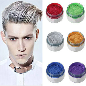 Unisex DIY Hair Color Wax Mud Dye Cream Temporary Modeling 7 Colors Available  eBay