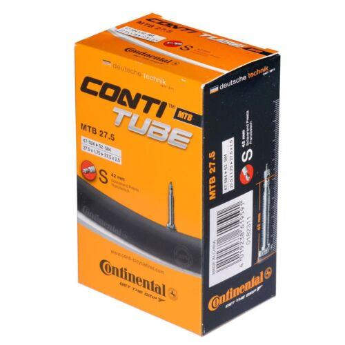 "Continental Standard Tube MTB 650b-27.5in-1.75//2.5/"" 42mm Presta Valve Black"