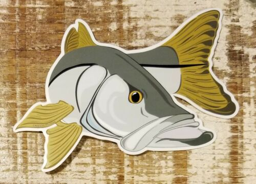 """Fishing Bumper Stickers SNOOK 5/"""" x 3 1//2/"""" decals saltwater fly fishing"""