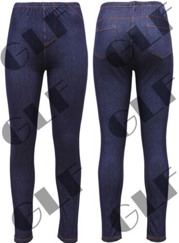 New Ladies Womens Stretchy Jeans Denim Pants Skinny Jeggings  Plus Size 8-16
