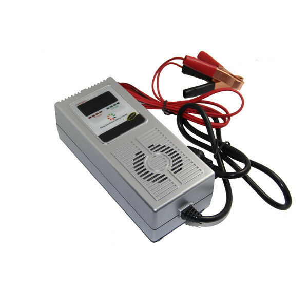 12V 8A smart deep cycle car battery charger negative pulse desulfation function