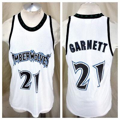 Vintage Minnesota Timberwolves Kevin Garnett 21 Large Nba