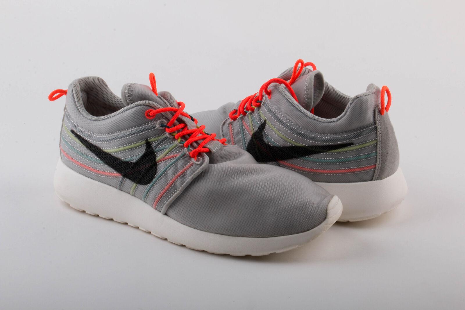 Nike Mens Rosherun DYN FW QS Strate Grey/Crimson 580579-061 Size 8 Pre-owned