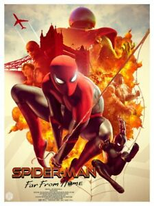 Spider-Man-Far-from-Home-Lithograph-Art-Print-18-034-x-24-034