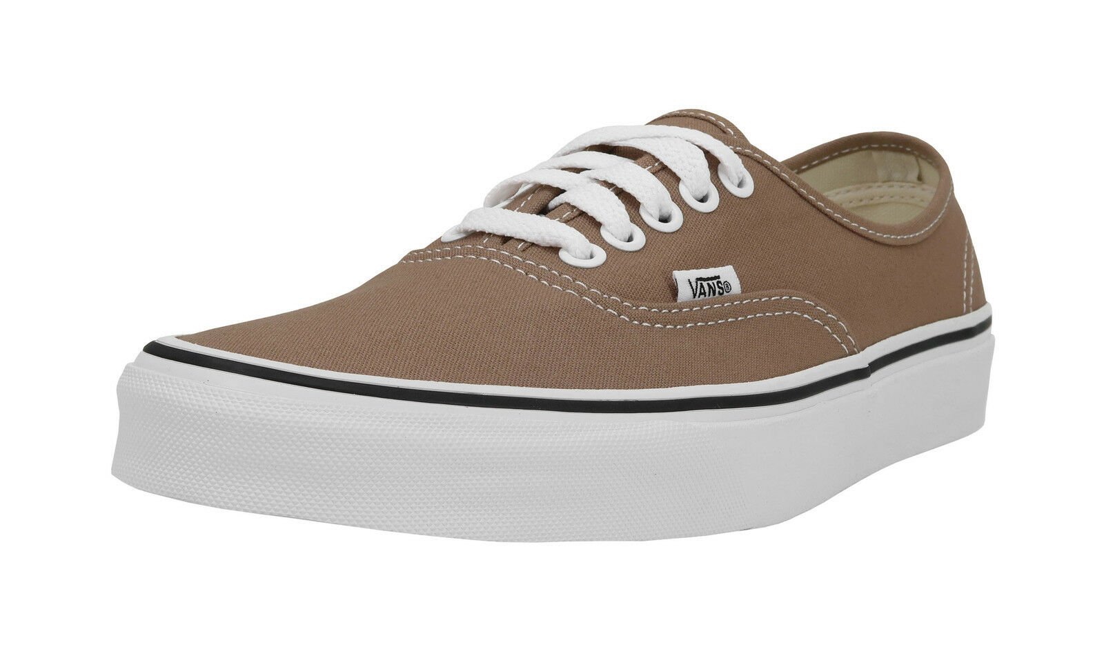 Vans Shoes Authentic Men Women Tigers Eye/True White Sneakers Light Beige