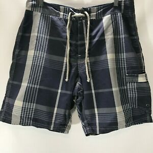 J-Crew-Board-Shorts-Swim-Trunks-The-Original-LongBoard-Blue-Plaid-Size-34