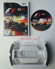 F1 FORMULA ONE 2009 + GENUINE WHEEL=Wii=OFFICIAL RACING CAR GAME+HAMILTON=GC✔