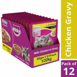 Whiskas-Kitten-Wet-Cat-Food-Chicken-in-Gravy-85-g-Pack-of-12