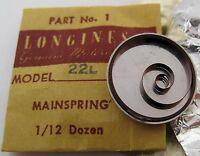 Longines 22l Part Original Mainspring 770