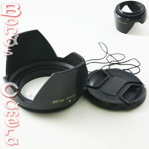 82mm 82 mm Plastic Crown Petal Flower Lens Hood + Centre-Pinch Snap-on lens cap