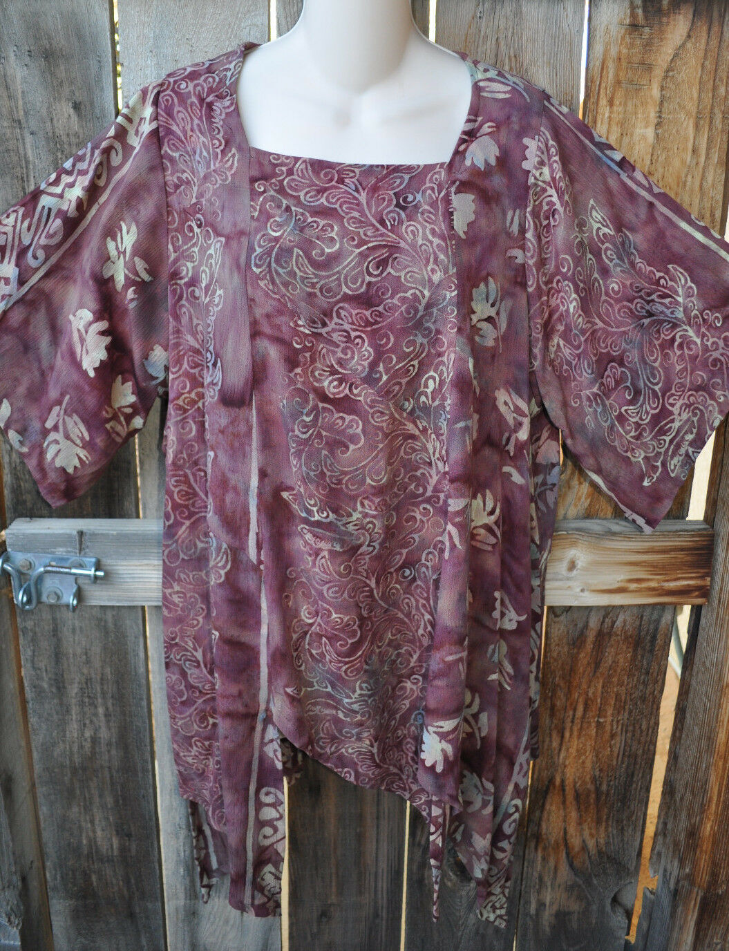 ART TO WEAR MISSION CANYON 74+ PIXIE HEM TUNIC IN NEW CHESTNUT,OS+,50 B