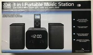 Zone 3 in 1 Portable Music 🎶 Station with Built-in MP3 Player Port, Radio 📻 an