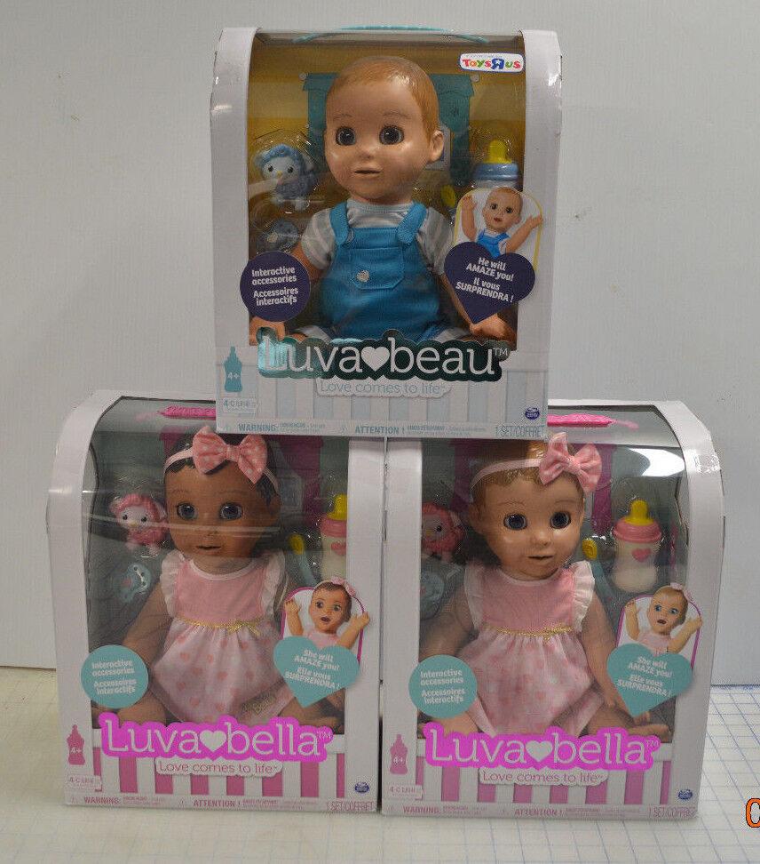 Lote de 3 Muñecas Luva Bella luvabella luvabeau conjunto rubia Toysrus exclusivo Niño