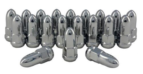 """Chrome Bullet Lug Nuts Set of 20 1//2/"""" Lugs C1004B"""