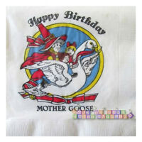 Nursery Rhymes Mother Goose Vintage Small Napkins (20) Baby Shower Supplies