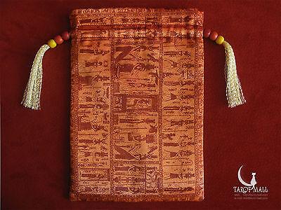 """Sacris Literis"" - silk Tarot bag (double-sided)"